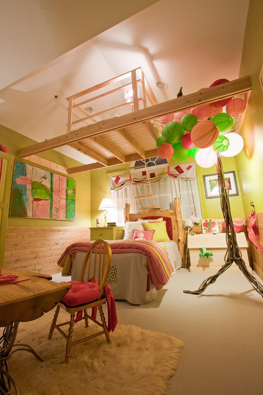 Дизайн интерьера детских комнат на мансарде