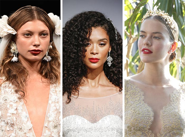 fall_2017_bridal_makeup_hairstyles_beauty_trends_classic_red_lips