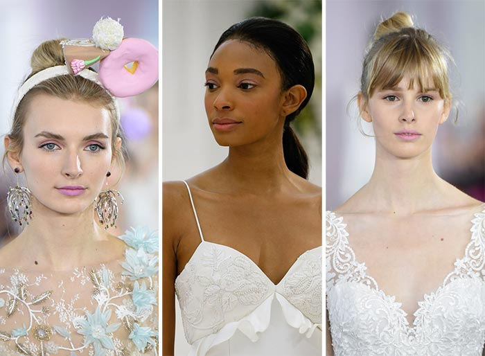 fall_2017_bridal_makeup_hairstyles_beauty_trends_pink_lips_and_lids