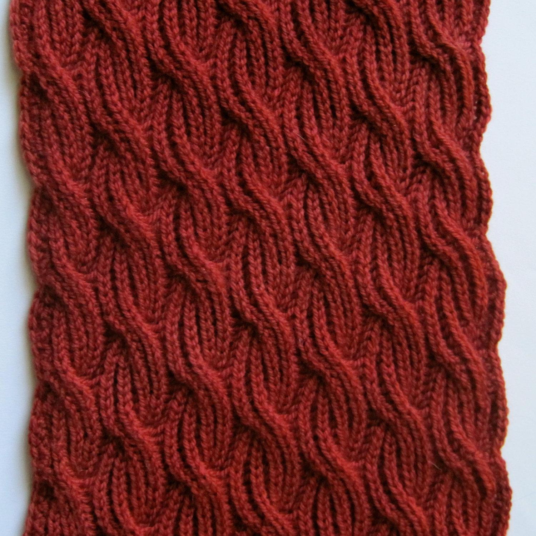 Шарф как связать спицами вязание для начинающих - Мой секрет 26