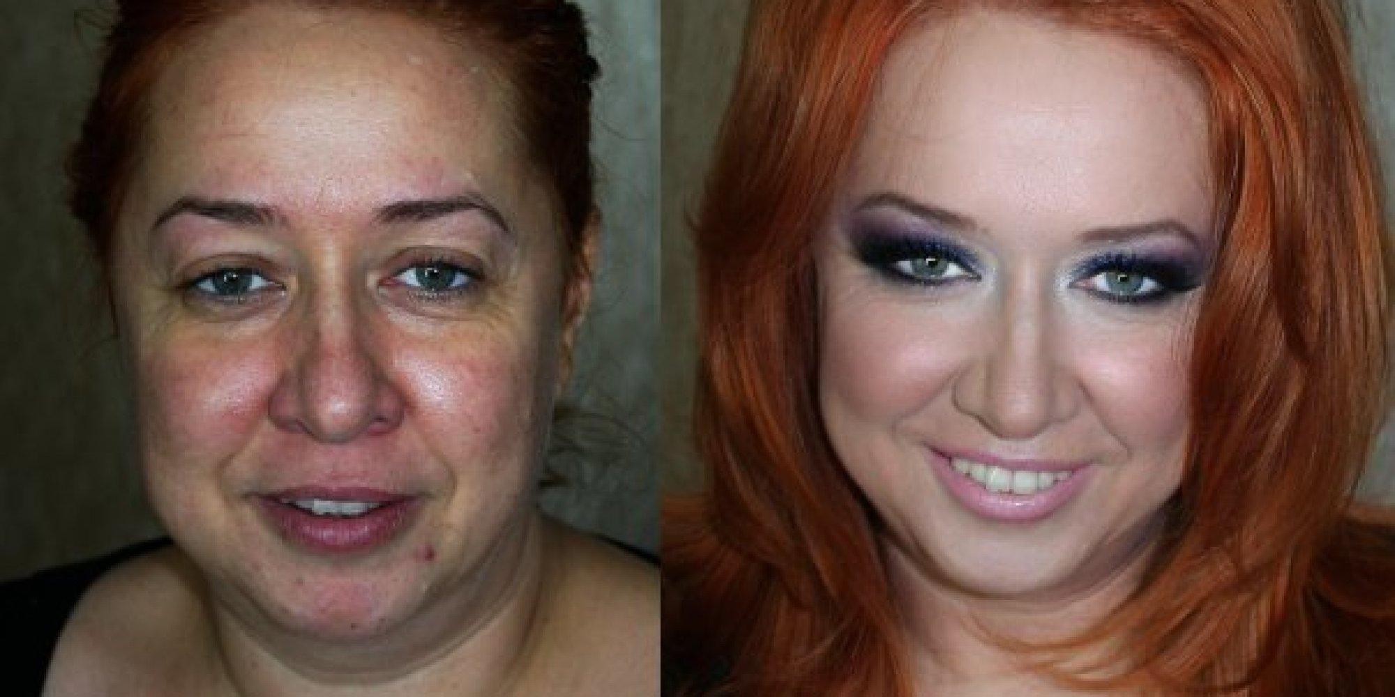 Фото некрасивых девушек после макияжа