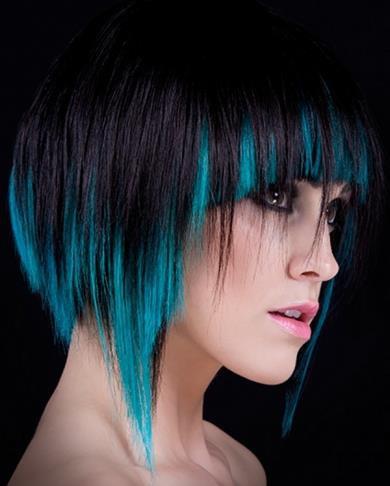 Mavi Siyah Saç Modelleri