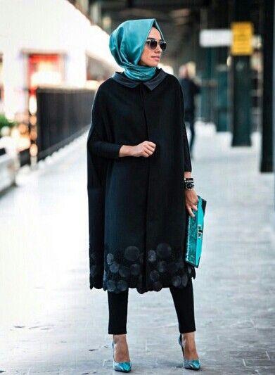 Tesettür 2016 Kış Sokak Modası 11